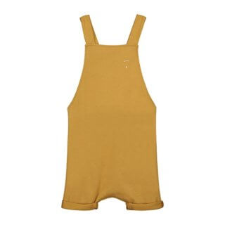 Pepenandnika Gray Label salopette Shortleg mustard for kids and babies comfortable organic bio cotton