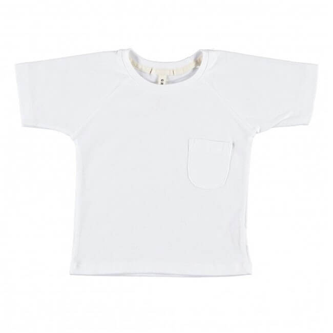 pepeandnika gray label sleeve t shirt white basics for kids and babies in white