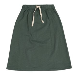 Pepe&Nika pepeandnika Kids Fashion Little Apparel Kindermode gray label summer girls Mädchen Long Summer Skirt Rock organic cotton casual basics bio fairtrade green grün sage