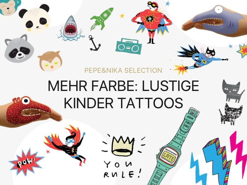pepeandnika kinder tattoos tattly gumtoo tattyoo colorful fun accessoires for kids party