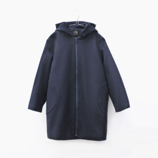 Pepe&Nika PepeandNika Little Apparel MOTORETA Spain Girls Baby Wool Coat blue autumnal winterly basics casual chic de luxe elegant Mika Coat blue