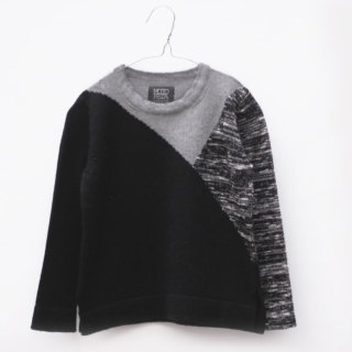 Pepe&Nika PepeandNika Little Apparel MOTORETA Spain boys Wool Pullover Jumper black & grey autumnal casual cool functional winterly