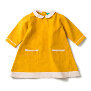 Pepe&Nika PepeandNika Little Green Radicals Kindermode UK HW 16/17 Cordkleid goldgelb herbstlich fairtrade fair-trade bio organic Gold Corduroy Tunic Dress