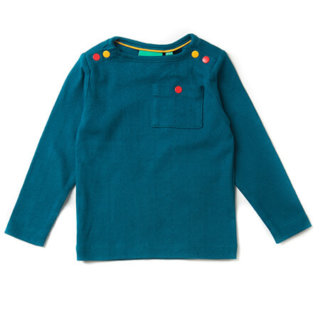 Pepe&Nika PepeandNika Little Green Radicals Kindermode HW 16/17 Longsleeve deep blue bio fairtrade organic herbstlich Deep Blue Pointelle Long Sleeve T-shirt unisex