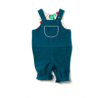 Pepe&Nika PepeandNika Little Green Radicals Little Apparel Kids Fashion UK AW 16/17 Dungarees deep blue playful cute bio nostalgic fair-trade organic fairtrade autumnal Deep Blue Corduroy Dungarees