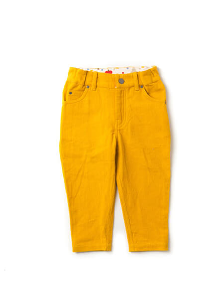 Pepe&Nika PepeandNika Little Green Radicals Little Apparel Kids Fashion UK AW 16/17 Gold Corduroy Pants basics classic bio nostalgic fair-trade organic fairtrade autumnal Gold Corduroy Jeans