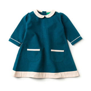 Pepe&Nika PepeandNika Little Green Radicals Kindermode UK HW 16/17 Cordkleid dunkelblau herbstlich fairtrade fair-trade bio organic deep blue Corduroy Tunic Dress