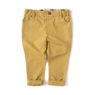 Pepe&Nika PepeandNika Little Green Radicals Little Apparel Kids Fashion UK AW 16/17 Canvas Jeans golden green modest classic bio casual basics vernal summery fair-trade organic Golden Green Rainbow Jeans