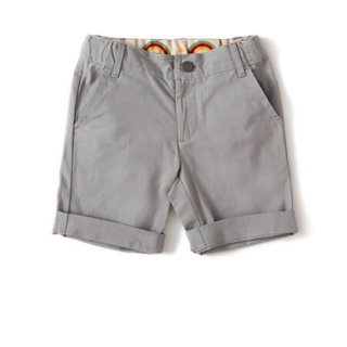 Pepe&Nika PepeandNika Little Green Radicals Kindermode UK HW 16/17 Leinen Shorts grau Baby Kids basics frühlingshaft sommerlich fairtrade fair-trade bio organic Moon Dust Rainbow Shorts
