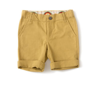 Pepe&Nika PepeandNika Little Green Radicals Little Apparel Kids Fashion UK AW 16/17 Canvas Shorts mustard yellow basics vernal summery fair-trade organic Golden Green Rainbow Shorts