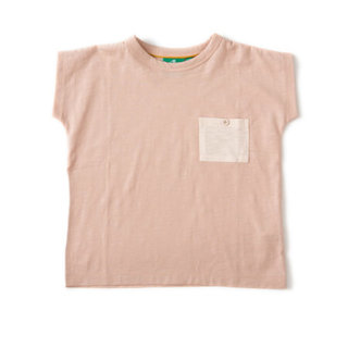 Pepe&Nika PepeandNika Little Green Radicals Little Apparel Kids Fashion UK AW 16/17 Jersey T-Shirt cloud pink Cloud Pink Slub Jersey Breezy Tee modest bio casual summery fair-trade organic basics