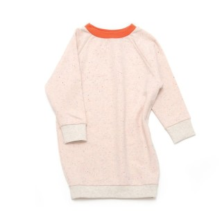 Pepe&Nike PepeandNika Little Man Happy Kindermode Berlin Baby Mädchen Kleid SPARKLED ROSE rosa creme beige orange punkte organic bio casual