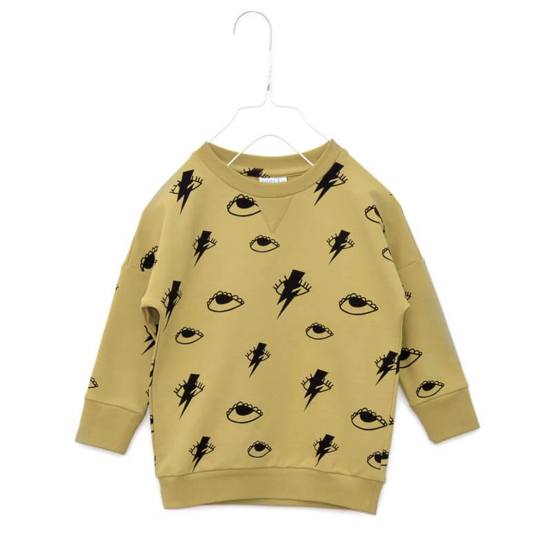 Pepe&Nika PepeandNika Kids Fashion Little Apparel Kindermode Little Man Happy Berlin ochre sweater Sweatshirt ockergelb print Bowie bio organic unisex casual vernal frühlingshaft