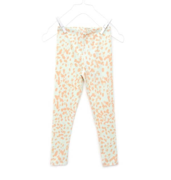 Pepe&Nika PepeandNika Kids Fashion Little Apparel Kindermode Little Man Happy Berlin Leggings coral smudges green apricot grün bio organic summery sommerlich casual vernal frühlingshaft
