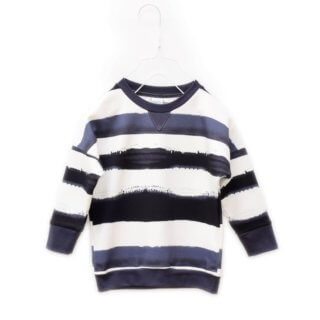 Pepe&Nika PepeandNika Kids Fashion Little Apparel Kindermode Little Man Happy Berlin loose striped sweater Sweatshirt ockergelb print Bowie bio organic unisex casual vernal frühlingshaft