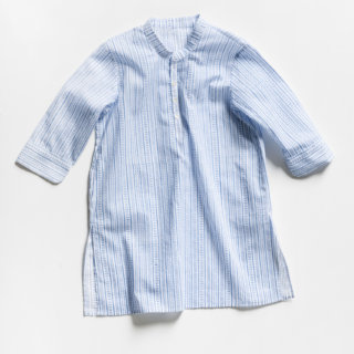 Pepe&Nika Pepe and Nika Littl by Lilit Berlin Little Apparel girls shirt dress sky blue cotton white airy summery comfortable
