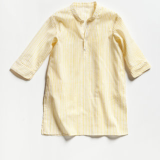 Pepe&Nika Pepe and Nika Littl by Lilit Berlin Little Apparel Shirt Dress sunny yellow white Girls baby comfortable airy light
