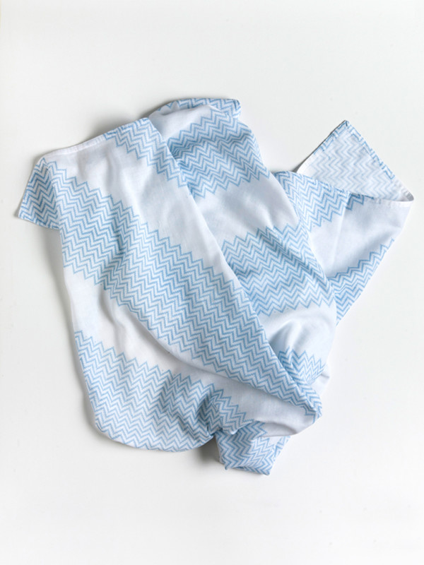Pepe&Nika Pepe and Nika Littl by Lilit Berlin Little Apparel Baby Baby Swaddle Blanket light blue white basic