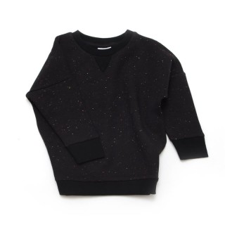 Pepe&Nike PepeandNika Little Man Happy Kindermode Berlin Baby Kids Sweater SPARKLED BLACK schwarz punkte organic bio casual funky