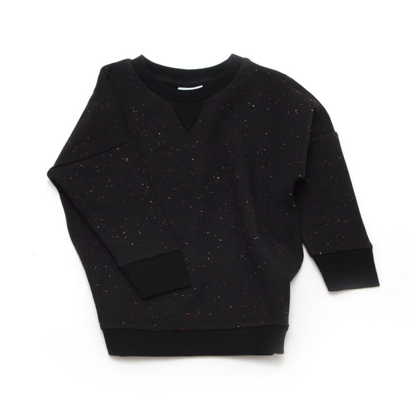 Pepe&Nika PepeandNika Little Man Happy Little Apparel Kids Fashion Berlin sweater SPARKLED BLACK funky baby kids dots organic AW 16/17 casual