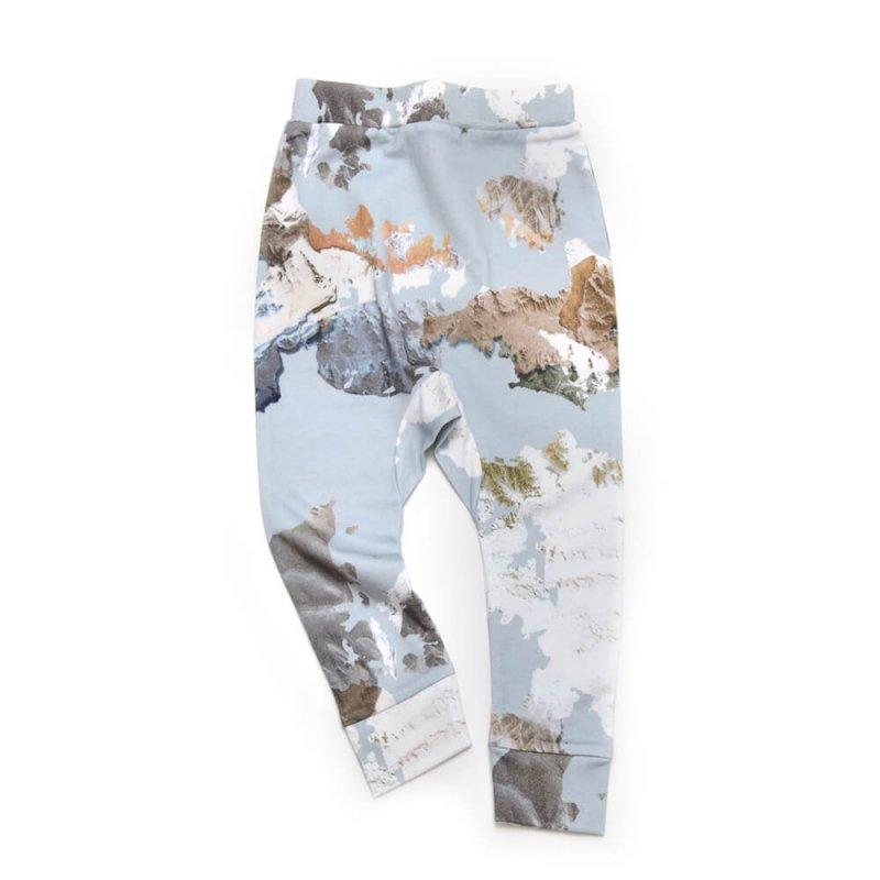 Pepe&Nika PepeandNika Little Man Happy Little Apparel Kids Fashion Berlin Sweatpants Eagle Eye light blue print autumnal baby girls boys organic AW 16/17