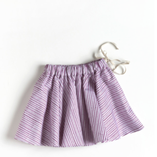 Pepe&Nika PepeandNika LittlbyLilit Berlin India Plate Skirt Cherry Pink Purple fairtrade hand printed white girls