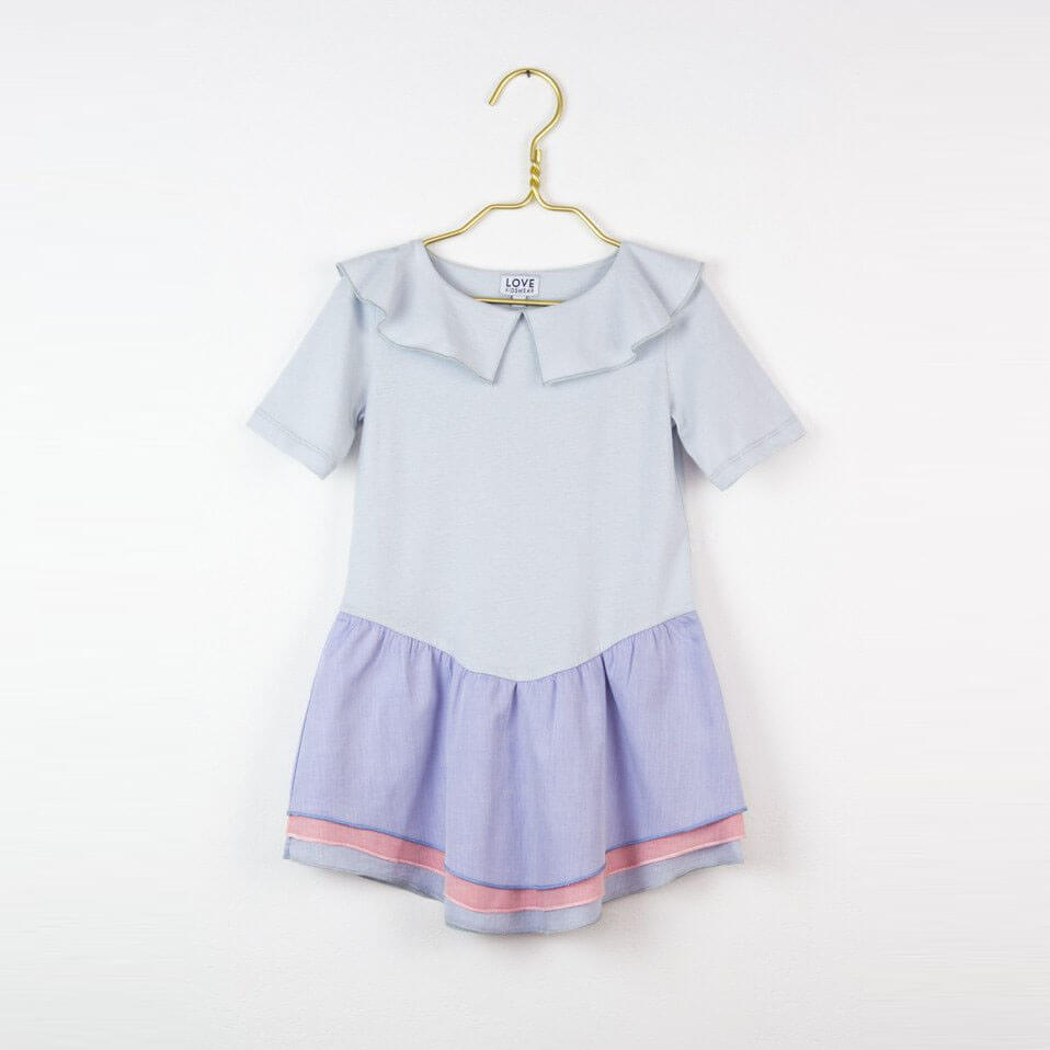 Pepe&Nika PepaandNika Little Apparel Kids Fashion Kindermode LOVE Kidswear girls Coco dress blue Kleid blau sommerlich summery elegant festive chic design organic