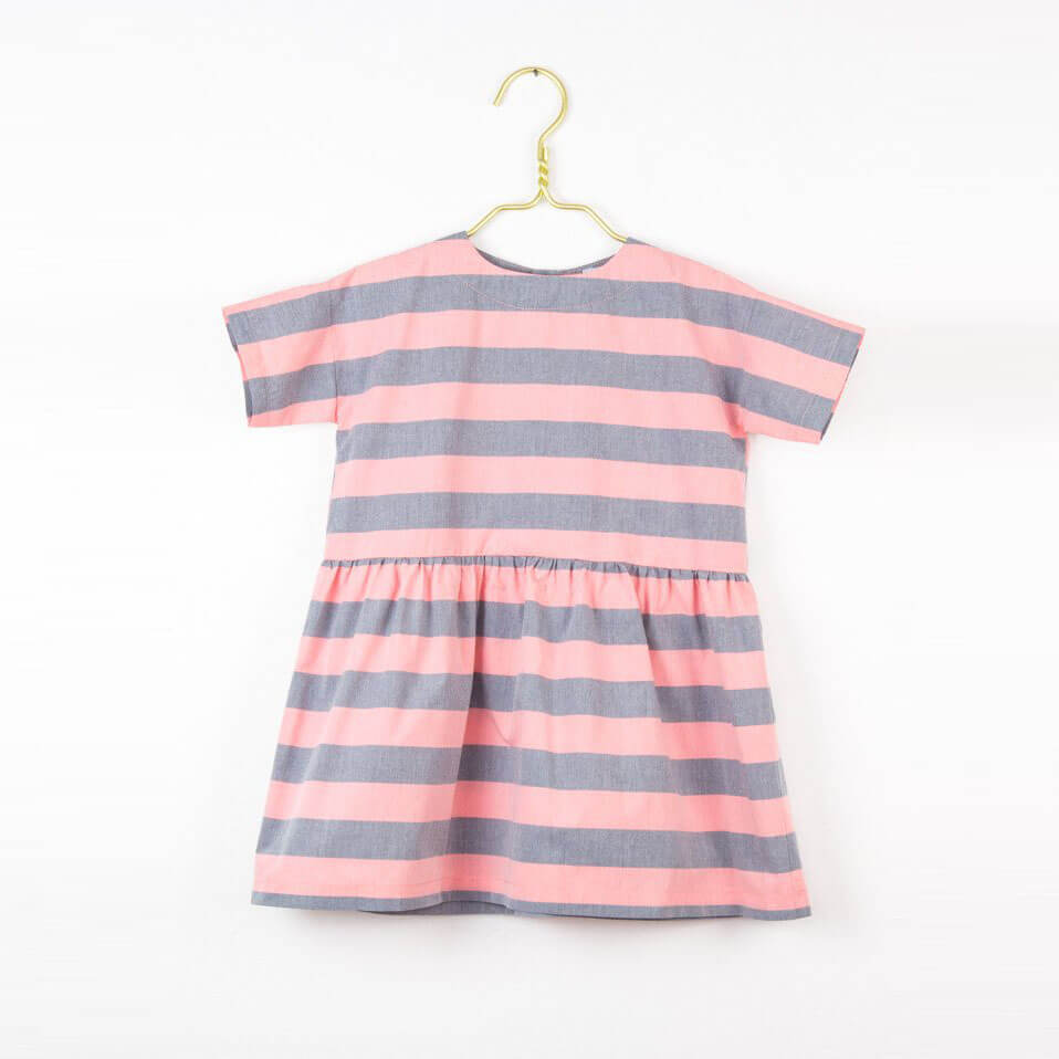 Pepe&Nika PepaandNika Little Apparel Kids Fashion Kindermode LOVE Kidswear girls dress Kleid Cotton Dress Pink Grey Stripes grau rosa sommerlich summery vernal frühlingshaft casual elegant