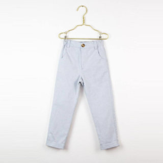 Pepe&Nika PepaandNika Little Apparel Kids Fashion Kindermode LOVE Kidswear Light grey denim trousers grau Jeans unisex sporty casual vernal plain Leo trousers in light grey