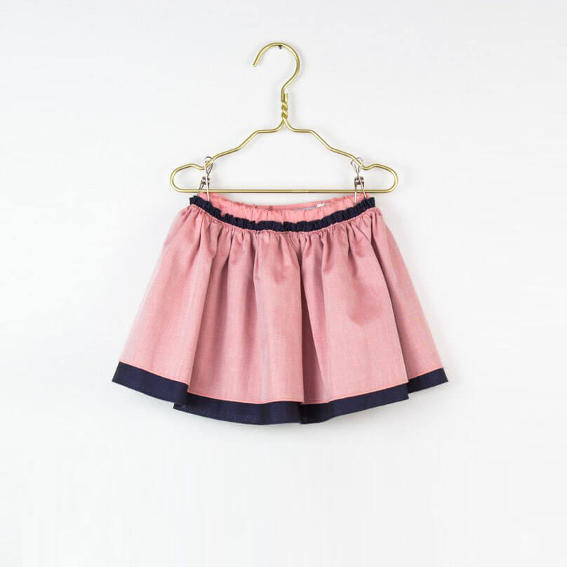 Pepe&Nika PepaandNika Little Apparel Kids Fashion Kindermode LOVE Kidswear girls Navy and Pink skirt Rock rosa blau sommerlich summery casual elegant festive chic