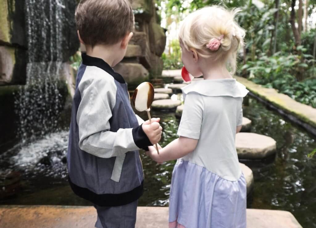 pepe and nika love at botanical garden in kids summer clothes by lovekidswear