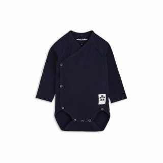 Pepe&Nika PepeandNika Kids Fashion Little Apparel Kindermode Wrap Onesie navy Mini Rodini basics casual organic bio sporty plain frühlingshaft vernal herbstlich autumnal einfarbig blau blue Body Newborns Baby