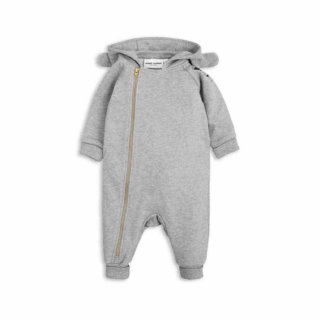 Pepe&Nika PepeandNika Kids Fashion Little Apparel Kindermode Mini Rodini Bunny Overall grey basics casual organic bio plain frühlingshaft vernal herbstlich autumnal einfarbig grau overall Newborns Baby