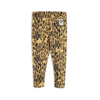 Pepe&Nika PepeandNika Little Apparel Kids Fashion Kindermode Mini Rodini Sweden Leopard Leggings girls babies functional casual print extravagant cute Basic Leopard Leggings Beige