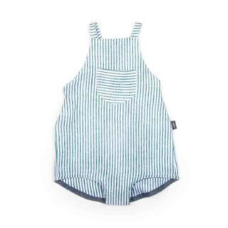 Pepe&Nika PepeandNika MONKIND Berlin Kids Fashion Kindermode Little Apparel organic bio Striped Linen Romper Overall blau weiss gestreift Baby girls striped casual summery sommerlich casual