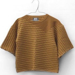 Pepe&Nika PepeandNika Little Apparel MOTORETA Spain girls Short Sleeved Pullover mustard cotton autumnal basics casual elegant modest Sweater mustard
