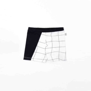Pepe&Nika PepeandNika Little Apparel Kids Fashion Kindermode MOTORETA Spain Black schwarz Black White Baby Trunks summery sommerlich Bademode Badehose schwarz weiss swimwear black&white design boys Jungs White Grid Trunks