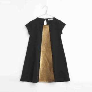 Pepe&Nika PepeandNika Little Apparel Kids Fashion Kindermode MOTORETA Spain Black golden Dress Kleid girls Mädchen summery sommerlich chic festive festlich elegant vernal frühlingshaft Sol Dress Black & Golden
