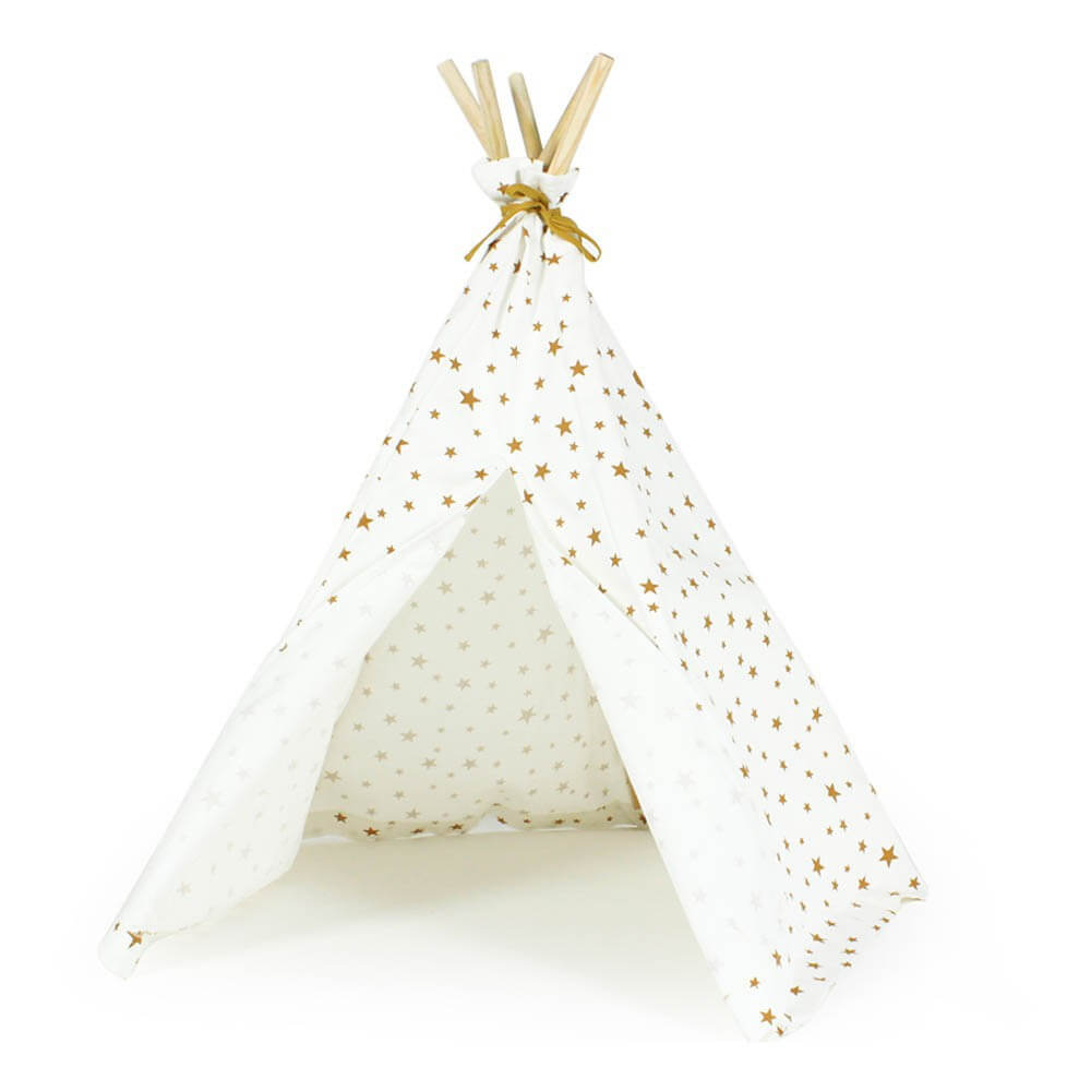 Pepe&Nika Nobodinoz mini teepee stars white gold kids toddler
