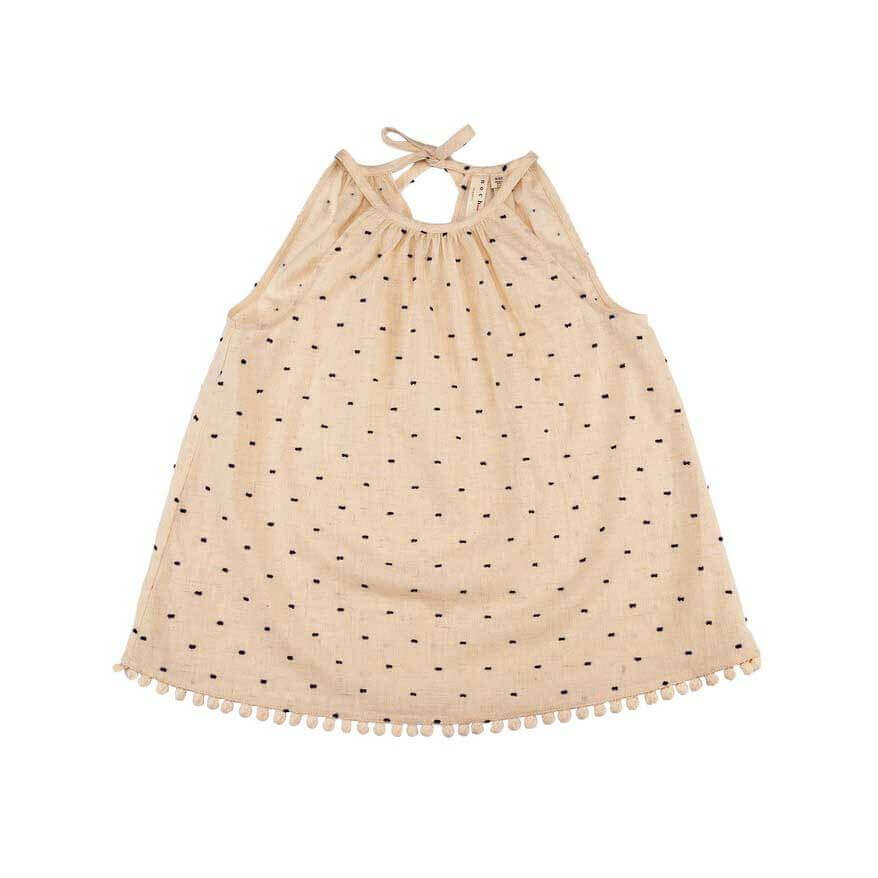 pepeandnika noch mini halter neck top new york design for girls ecru organic gots cotton de luxe elegant festive