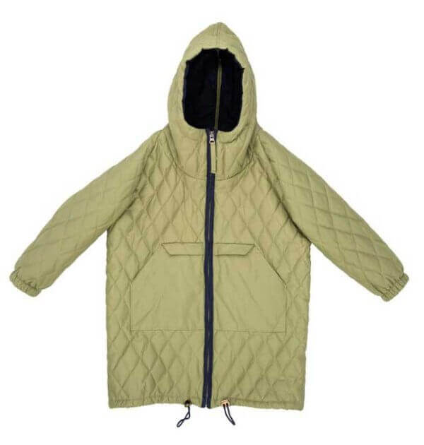 pepeandnika noch mini new york design boys parka in green winterly recycled poyester eco friendly kidsfashion