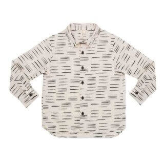 pepeandnika noch mini new york ecofriendly design organic cotton white printed shirt black&white for boys festive chic