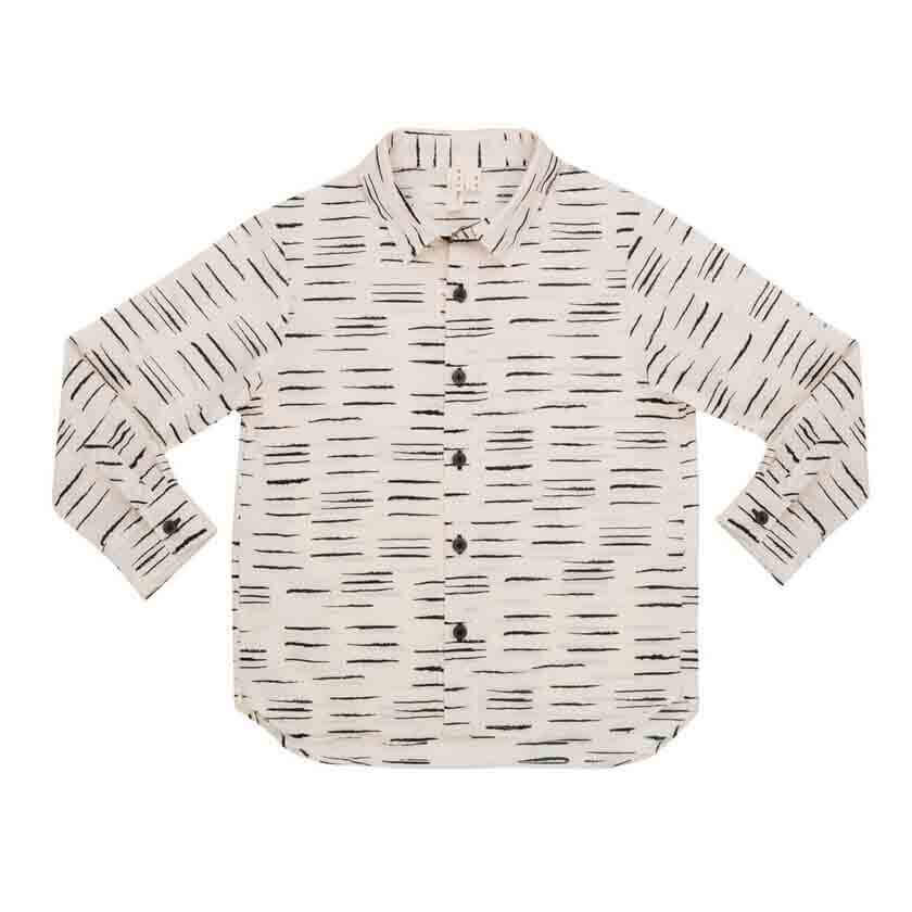 pepeandnika noch mini new york kidsfashion ecofriendly organic white printed shirt festive chic for boys vernal autumnal