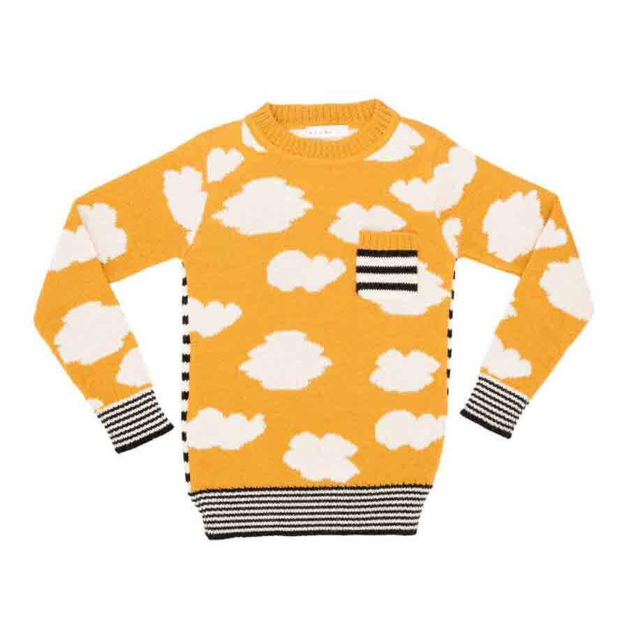 pepeandnika noch mini organic alpaca wool design new york kidsfashion cloud sweater de luxe mustard print winterly for girls and boys and babies