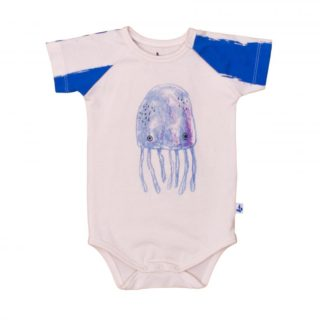 Pepe&Nika PepeandNika Litlle Apparel Kindermode Kids Fashion Noé & Zoë Baby Onesie Octopus blue and white Noé & Zoë casual print summery Berlin sommerlich blau weiß baby Body