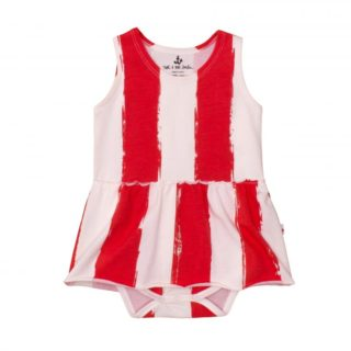 Pepe&Nika PepeandNika Little Apparel Kindermode Kids Fashion Noé & Zoë Tank Onesie with Skirt Berlin white red Body mit Rock rot weiss summery sommerlich gestreift striped Baby girl