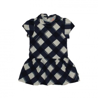 Pepe&Nika PepeandNika Noé & Zoë Little Apparel Berlin Kids Fashion Peter Pan Dress square pattern print navy white cotton autumn collection 2016 girls