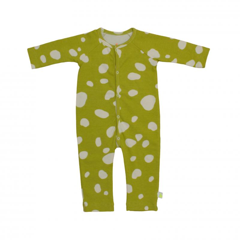 Pepe&Nika PepeandNika Noé & Zoë Little Apparel Berlin Kids Fashion Baby Playsuit Blobs yellow white mustard romper dots organic cotton bio autumn collection 2016
