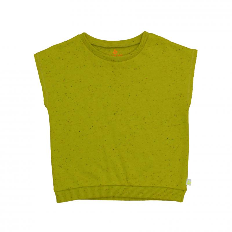 Pepe&Nika PepeandNika Noé & Zoë Little Apparel Berlin Kids Fashion Kids Overcut Top mustard classic autumn collection 2016 green yellow cotton fleece