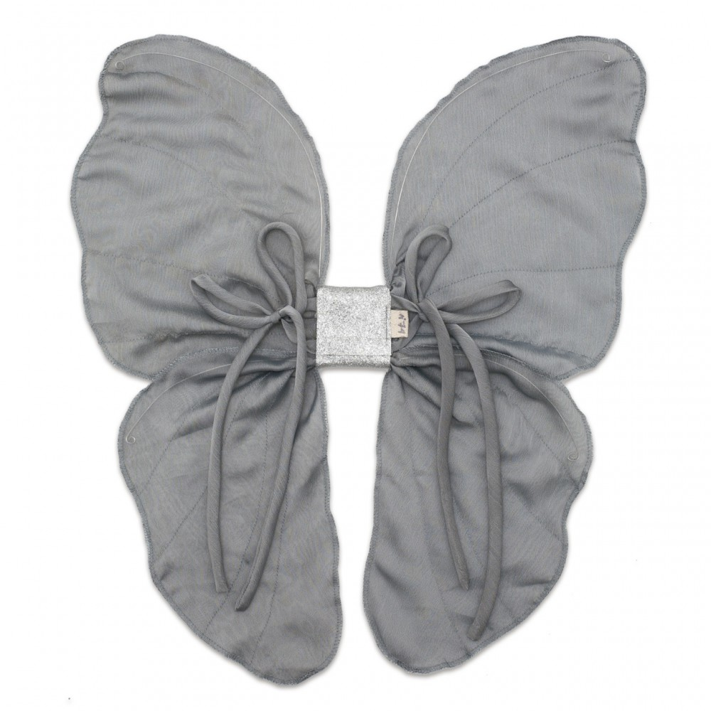 pepeandnika numero 74 butterfly costume wings in silver for the ulitimate tinkerbell costume for girls accessoire de luxe